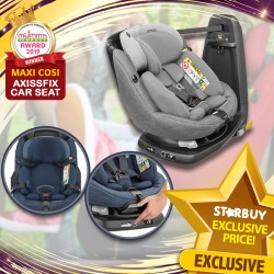 (2019 AWARD WINNER) Maxi Cosi AxissFix Plus Carseat + Free 3 Years Warranty + $40 Voucher + Carseat Installation worth $80!