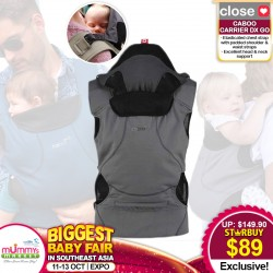 Close Parents Caboo DX Go Baby Carrier *ADDITIONAL $10 OFF for EARLY BIRD SPECIAL!!