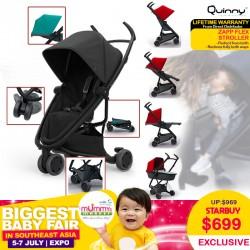 Quinny Zapp Flex Stroller (3 Wheels) + Free Lifetime Warranty