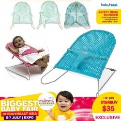 Babyhood Safety Mesh Bouncer (Assorted Colours)