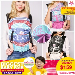 Kokadi Baby Carrier Flip (ERNA IN WUNDERLAND / Z MR WUNDERLAND ALLURE)