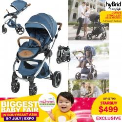 BabyStyle HyBrid Curve Stroller Blue Marine