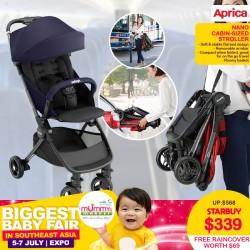 Aprica Nano Cabin Size Stroller + FREE Aprica Raincover worth $69