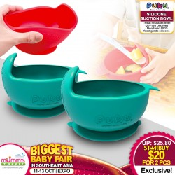 PUKU Silicone Suction Bowl (Bundle of 2)