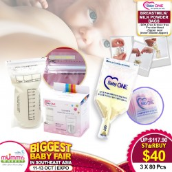 Baby One Breastmilk Storage Bags (3 Box Bundle: 240pcs)