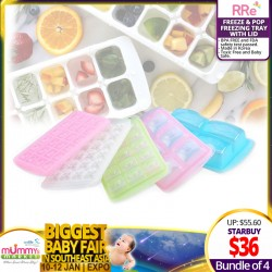 RRE Freeze & Pop Freezing Tray with Lid (Bundle of 4)
