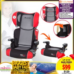 Baby Trend PROtect Carseat Series Yumi 2-in-1 Folding Booster Seat