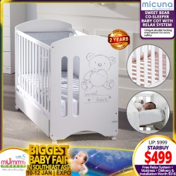 Micuna Sweet Bear Baby Cot with Relax System + 4