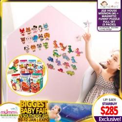 Momsboard JeJe House Mignon (L) Magnetic Whiteboard + Magnetic Funny Puzzle Set OR Felt Magnets Set (5 packs)