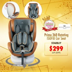 (Award Winner 2020) Royal Kiddy London RK Prime 360 Rotating ISOFIX Carseat)