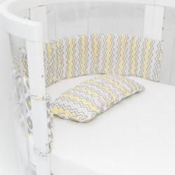 Babyhood Kaylula Bumper & Pillow Set ( Lemon Twist / White )