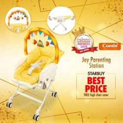 (2020 AWARD WINNER) Combi Joy Parenting Station (Manual Swing) +  Free Highchair Cover