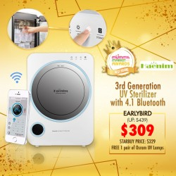 (2020 AWARD WINNER) Haenim 3rd GEN UV Sterilizer with 4.1 Bluetooth