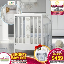 ITALBABY Baby RE Cot+ FREE Babydream Bedding Set + 4