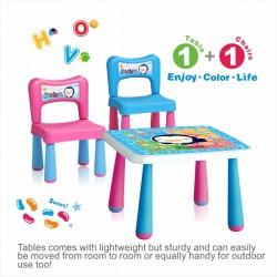 Puku Table + 2 Chairs Set (L)