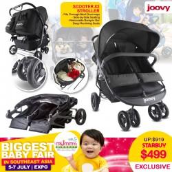 Joovy ScooterX2 Side by Side Double Stroller