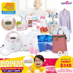 Spectra S2 Double Electrical Breastpump Bundle + 2 Years Local Warranty + Free Gifts Worth $300+ + Warmer