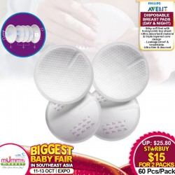 Philips Avent Disposable Breast Pads x 60 (Day Pads) - 2 for $15