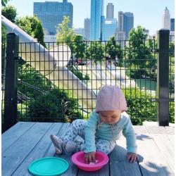 OOGAA Bowls + Lid (PINK/GREEN)