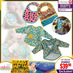 Close Parents Bib Bundle ( Stage 1 to 4) 4 Designs Available!!