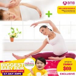 Beauty Mums & Babies Wellness Bundle (60 Mins Prenatal Massage + 60 Mins Yoga)