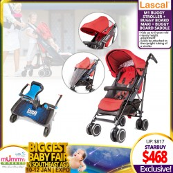 Lascal M1 Buggy Stroller + Buggy Board Maxi + Buggy Board Saddle