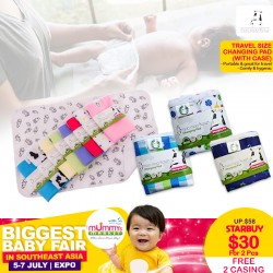 Moo Moo Kow Travel Size Changing Pad (Bundle of 2) + Free 2 Case worth $26