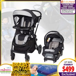 Baby Trend City Clicker Pro Snap Gear® Travel System (Stroller + Carseat)