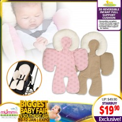 Babytoon 3D Reversible Infant Full Support Cushion
