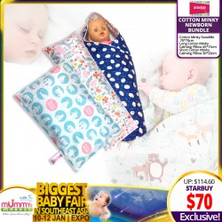 OurOne&Only Cotton Minky Newborn Bundle (Swaddle + Short & Long Calming Pillow)