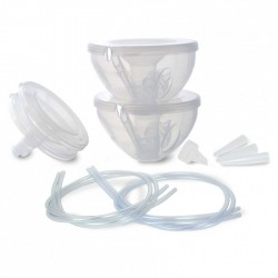 Freemie Deluxe Collection Cup Set for Asia Pacific (OPEN SYSTEM) + Pump Connection Kit Bundle