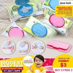 Javalock Resuable Wet Wipe Covers (Buy 5 Free 2, Buy 10 Free 5)
