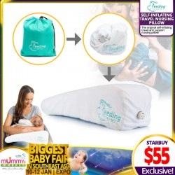 Feeding Friend Self-Inflating Travel Nursing Pillow