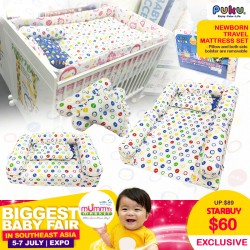 Puku Newborn Travel Mattress Set