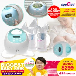 Spectra S1+ Breastpump + Free 2 Years Local Warranty from Authorized Distributor + Voucher