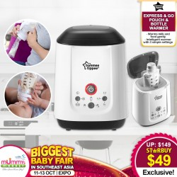 Tommee Tippee Express & Go Pouch & Bottle Warmer