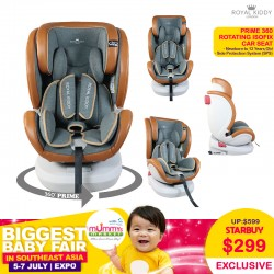 NEW LAUNCH!! Royal Kiddy London RK Prime 360 Rotating ISOFIX Carseat