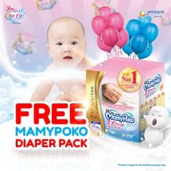 FREE MamyPoko Newborn/Medium Diaper Pack