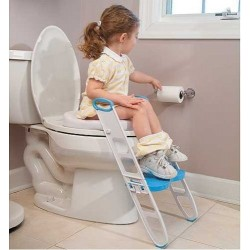 Mommy's Helper - Cushie Step Up Padded Potty Seat with Step Stool