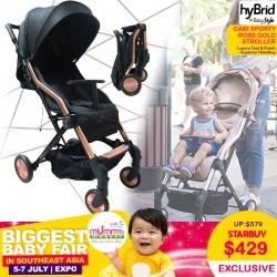 BabyStyle HyBrid Cabi Sport Stroller Rose Gold