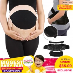 Pret-a-Pregger 3 in 1 Maternity Belly Pelvic and Back Support Belt