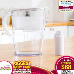 Acqua Vida Water Pitcher + FREE filter (worth $19.90) + Baby Nasal Suction