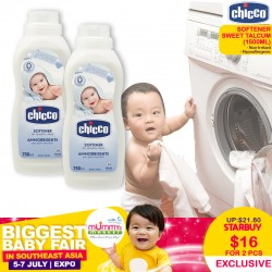 CHICCO Softener in SWEET TALCUM 1500ML (BUNDLE OF 2)