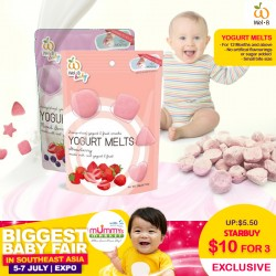 Wel-B Baby Snack Yogurt Melts (Bundle of 3)