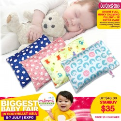 OurOne&Only Full Minky Husk Short CalmingPillow + 1 Extra Minky Pillowcase FREE $5 OONO online E-voucher