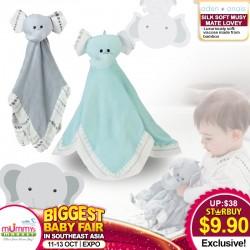 Aden + Anais Mini Blanket AZURA / MOONLIGHT Silky Soft Mutsy Mate Lovey (ELEPHANT)