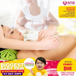 Beauty Mums & Babies Postnatal - Lactation Massage (60 Minutes) FREE Pigeon Breast Pad + Early Bird Special