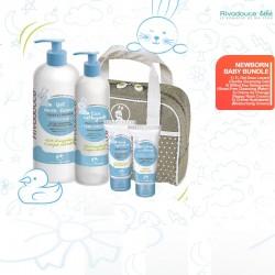 RIVADOUCE BEBE Newborn Baby Bundle (Bath Gel + Cleansing Water + Nappy Rash Cream + Moisturizing Cream) + Free Gifts