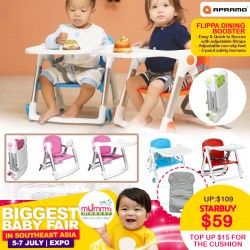 Apramo Flippa Dining Booster TOP UP $15 for Cushion!!