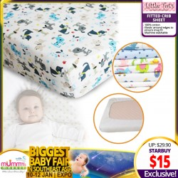 Little Tot's Fitted Crib Sheet (130cm x 70cm x 20cm)